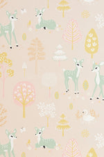 Majvillan Wallpaper | Golden Woods in sweet pink