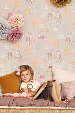 Majvillan Wallpaper | Golden Woods in a Dusty Lilac