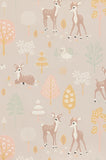 Woodlands Wallpaper in a dusty Lilac for Kids rooms