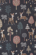 Majvillan Wallpaper Golden Woods in deep grey