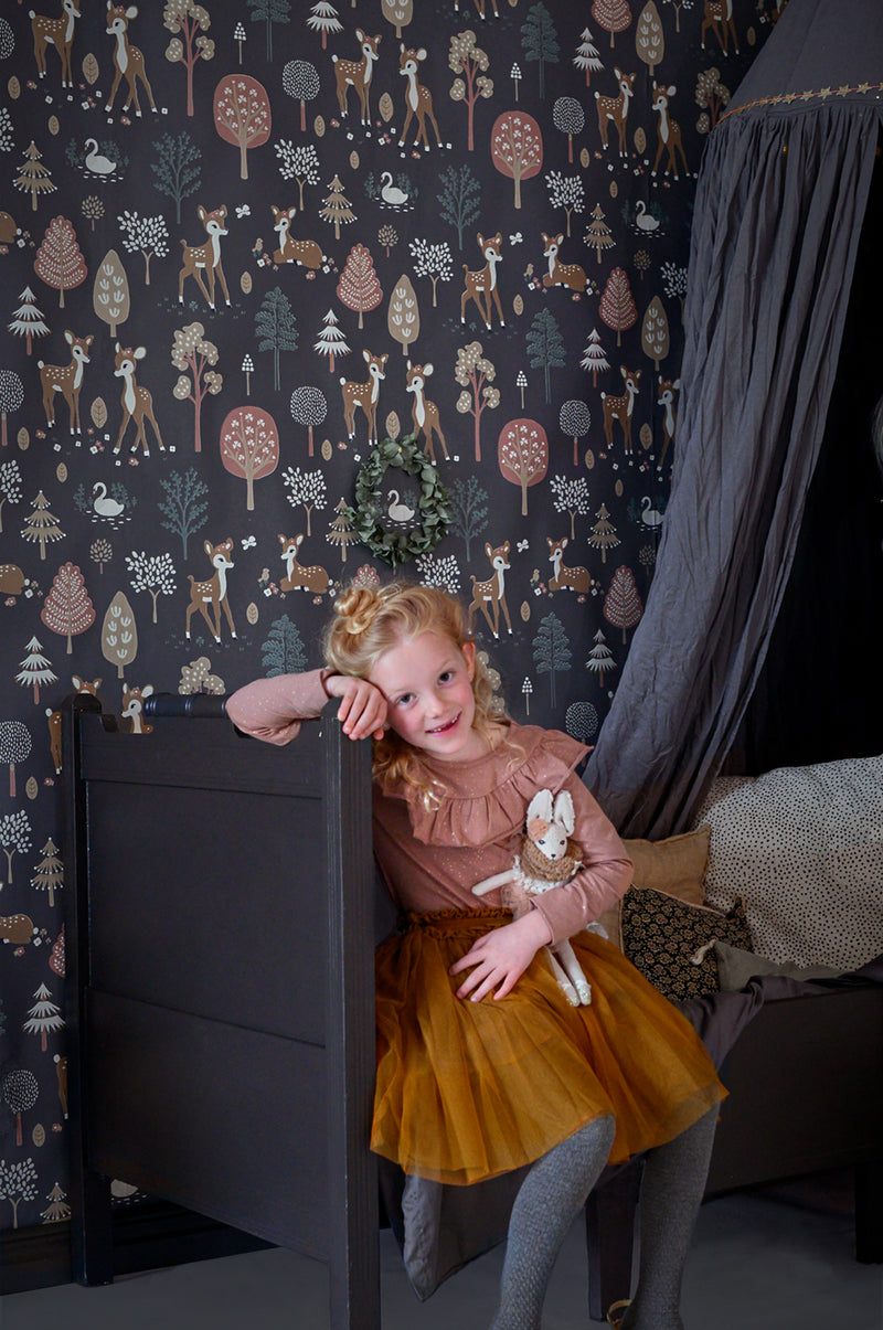 wallpaper for kids rooms Majvillan Golden Woods