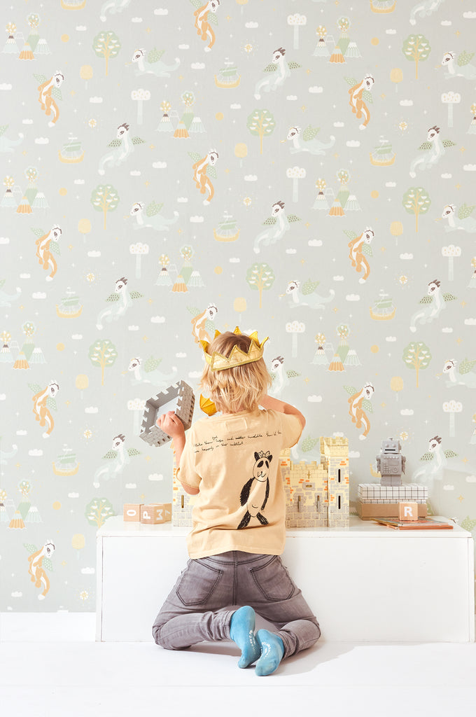Boys Wallpaper with Dragons for Kids rooms
