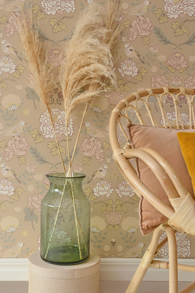 Majvillan Wallpaper | June Honey Beige