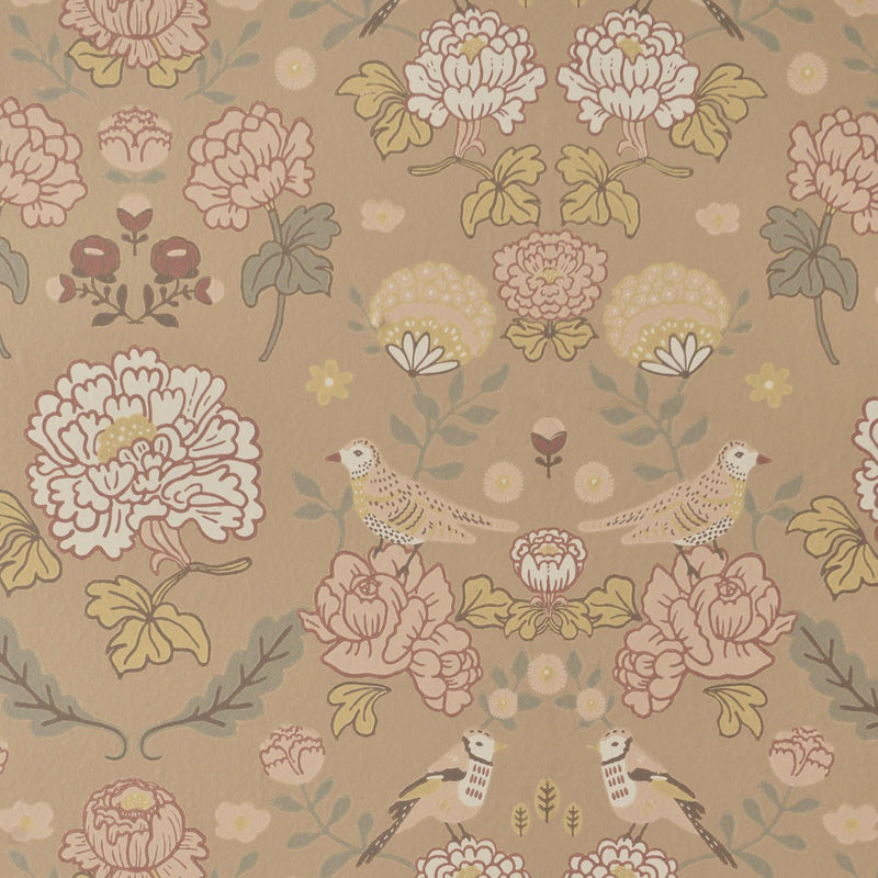 June Wallpaper in Honey Beige by Majvillian