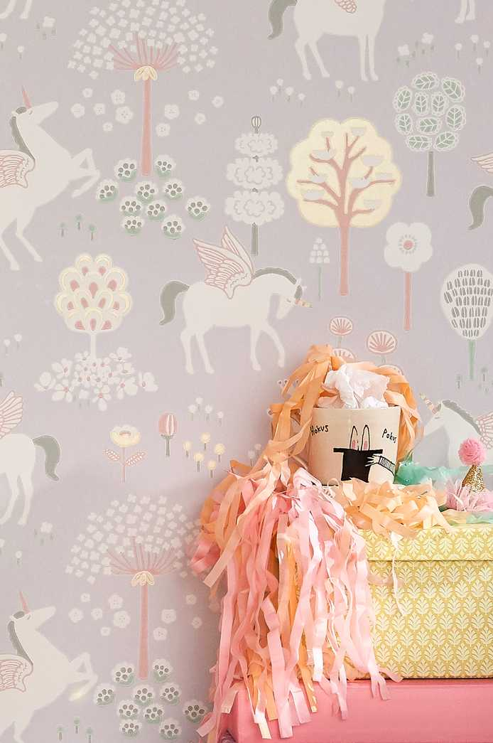 Unicorns wallpaper from Just Kids Wallpaper in Lilac