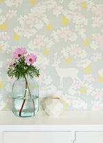 Apple Garden Wallpaper in Grey by Majvillan