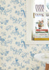Sugar Tree Wallpaper in Blue & Creamy White by Majvillan