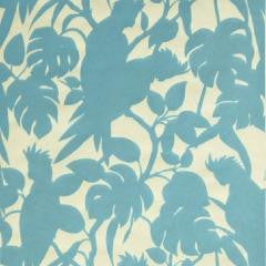 Cockatoos wallpaper by Florence Broadhurst in Blue