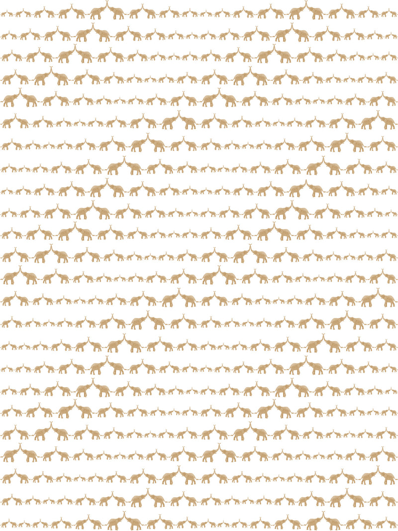 Marley+Malek Kids Wallpaper | Baby Elephant Walk Gold Metallic