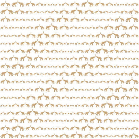Sissy & Marley for Jill Malek Wallpaper | Baby Elephant Walk Gold
