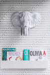 Marley+Malek Kids Wallpaper | Baby Elephant Walk Silver Metallic