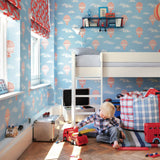 Little Sanderson Ballons Wallpaper 214030 Blue & Red