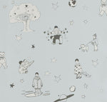 Once Upon A Star Wallpaper in Baby Blue. Boys Wallpaper. Nursery Wallpaper