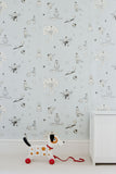 Boys Wallpaper. Nursery Wallpaper, Blue Once Upon A Star Wallpaper by Katie Bourne
