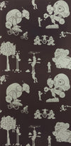 PaperBoy Wallpaper Brave New World in Mulberry. Kids Wallpaper