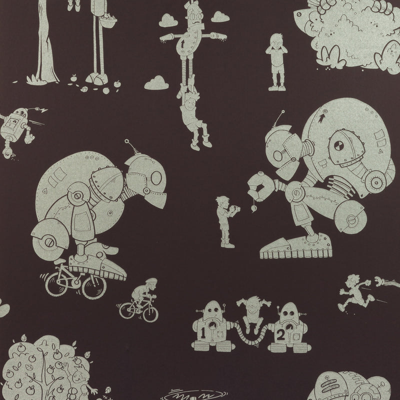 PaperBoy Wallpaper Brave New World in Mulberry. Just Kids Wallpaper
