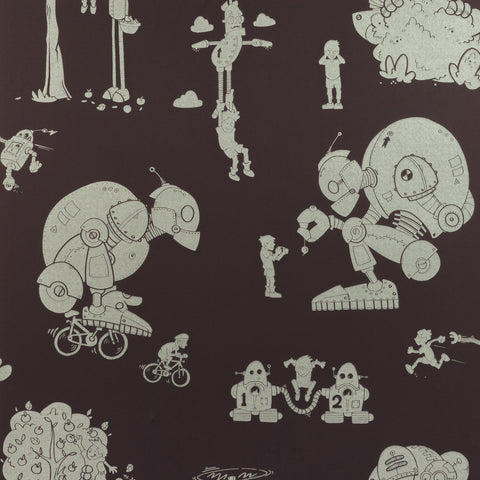 PaperBoy Wallpaper | 'D'ya-think-e-saurus' | White
