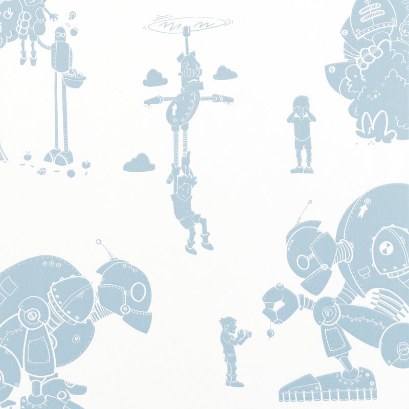 Brave New World Wallpaper in Blue & White by PaperBoy. Just Kids Wallpaper
