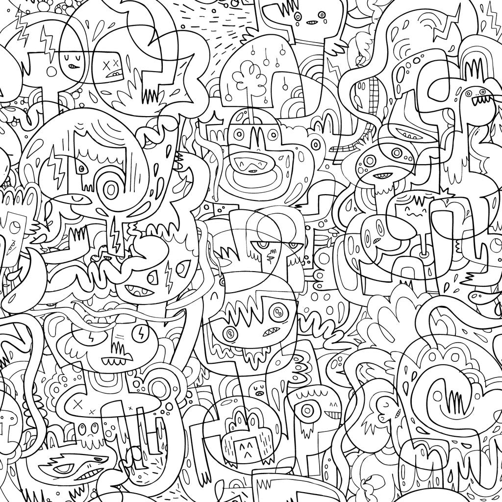 Burger Mash Colour In Wallpaper from Just Kids Wallpaper