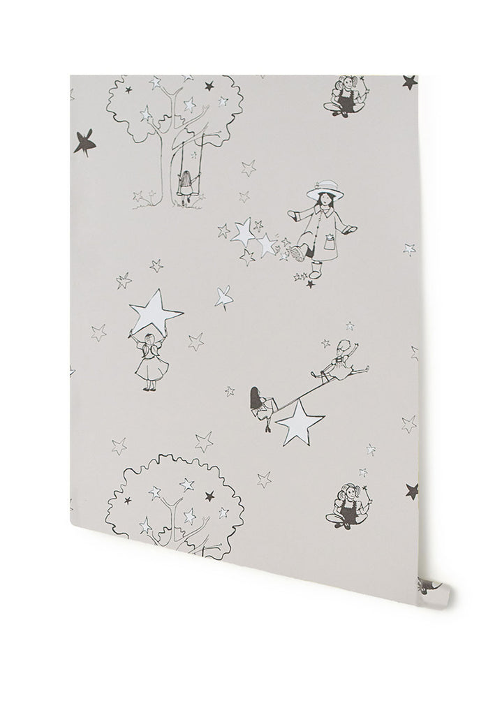 Katie Bourne Interiors Wallpaper | Catch a Star Slate on White
