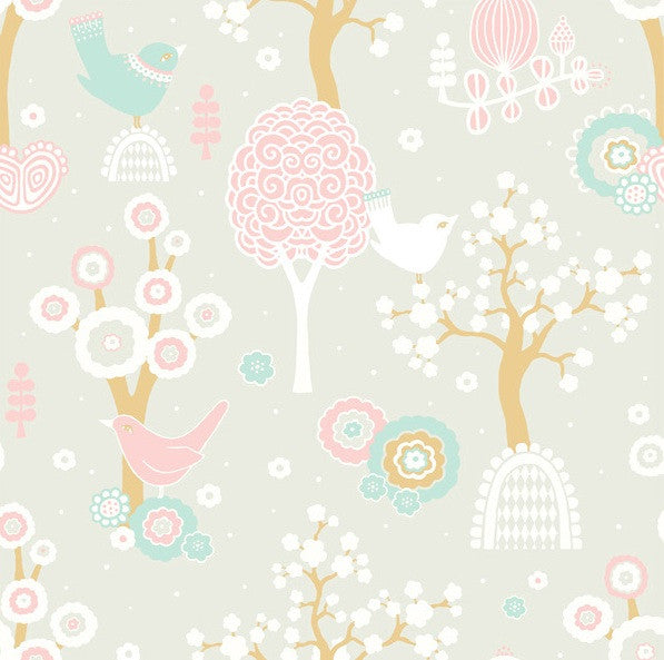 Majvillan Wallpaper Cherry Valley in Grey 102-04