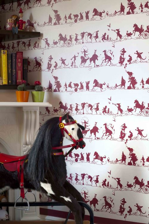 Catherine Martin Wallpaper | Circus Parade in Marine Blue