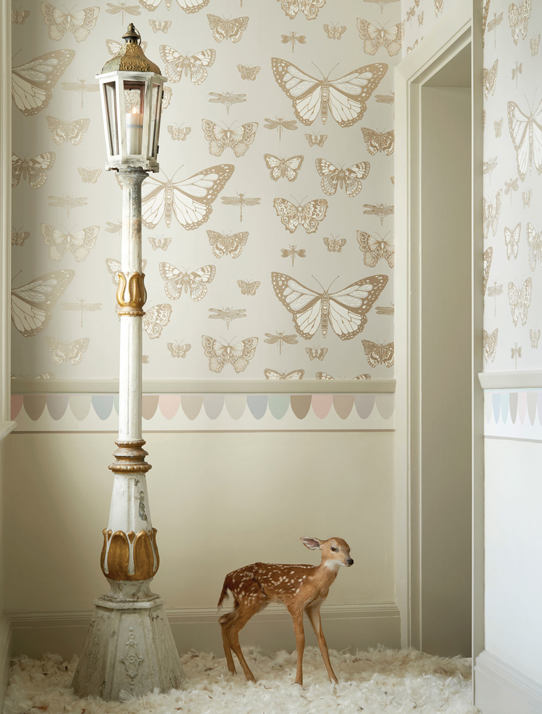 Cole & Son Wallpaper | Butterflies & Dragonflies | Whimsical