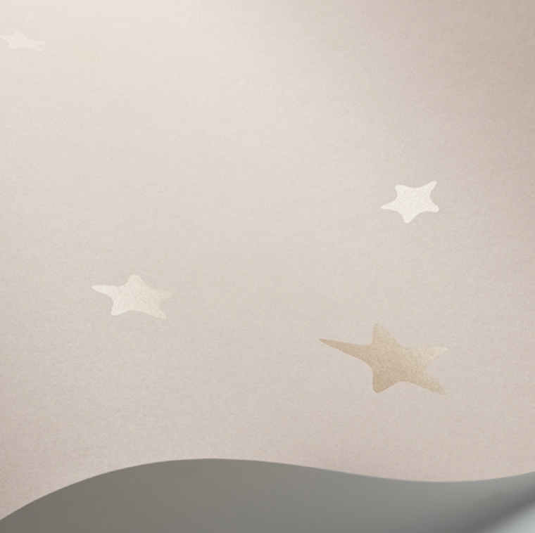 Stars Wallpaper by Cole & Son in Pink & Gold
