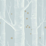 Cole & Son Wallpaper Woods & Stars 103/11051 Powder Blue