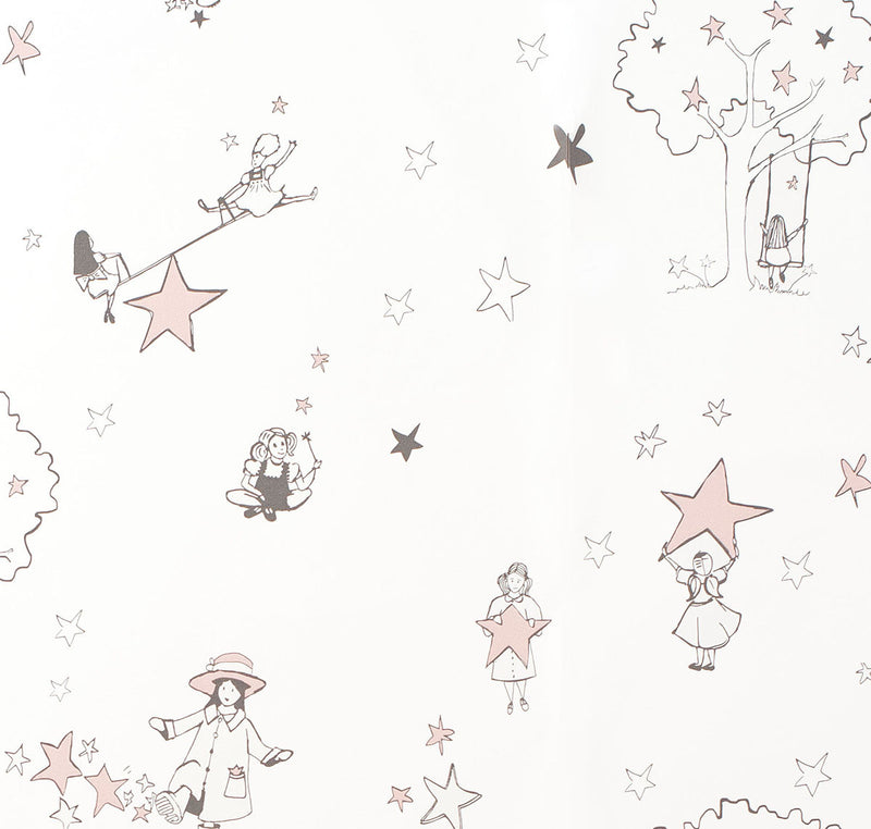 Katie Bourne Interiors Wallpaper - To Catch A Star in Pink & Cream