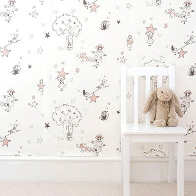 Nursery Wallpaper for Girls - Catch A Star designed by Katie Bourne Interiors