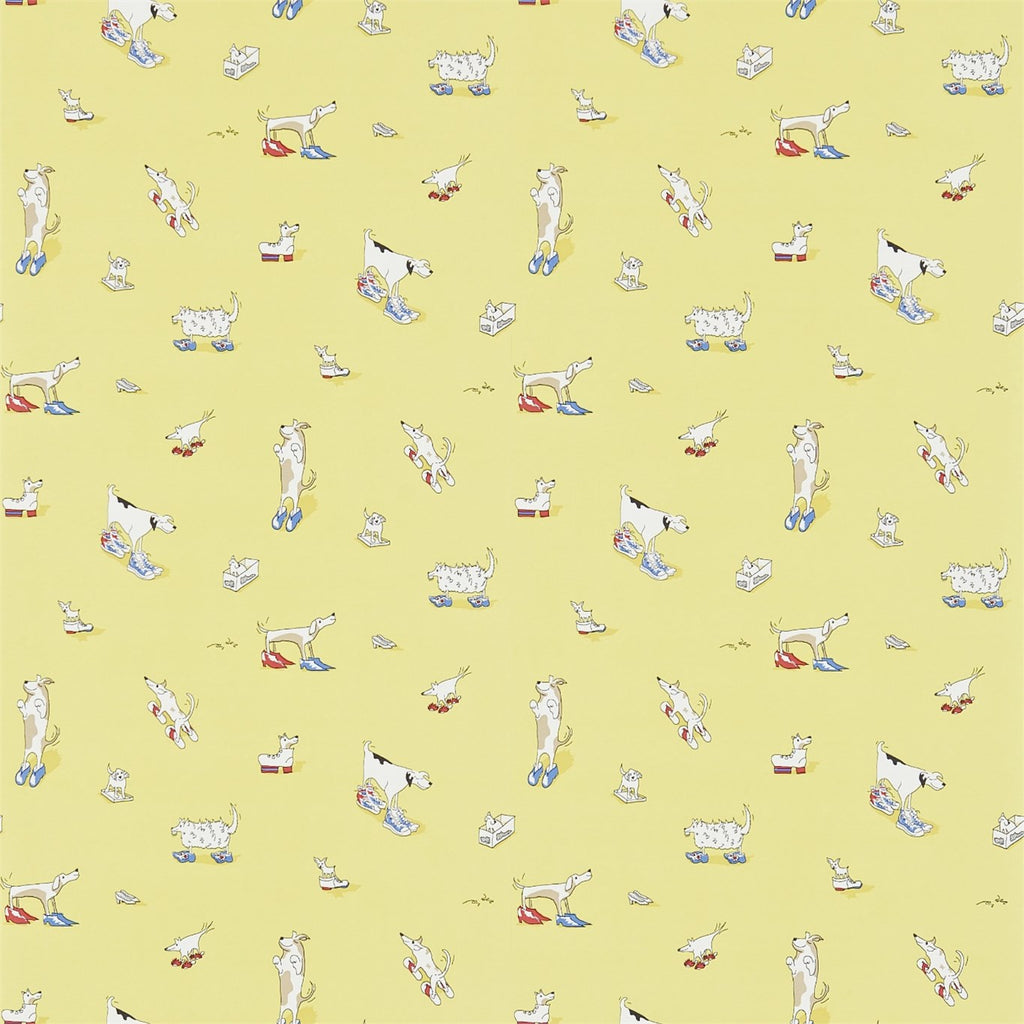 Dogs in Clogs Kids Wallpaper 214012 in Yellow | Little Sanderson