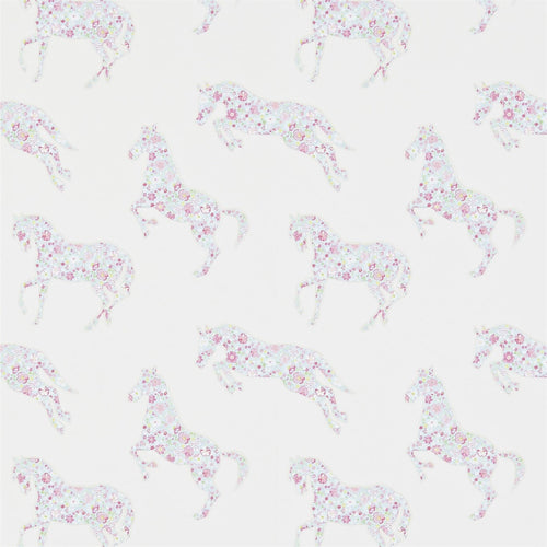 Little Sanderson Wallpaper Pretty Ponies 214036 Pink & Sky