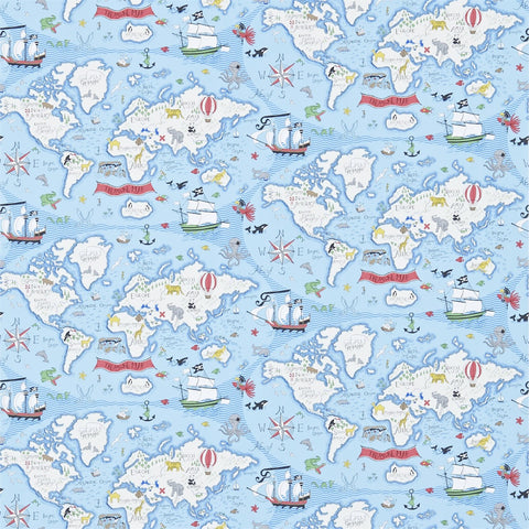 Sanderson Wallpaper | Dogs in Clogs 214011