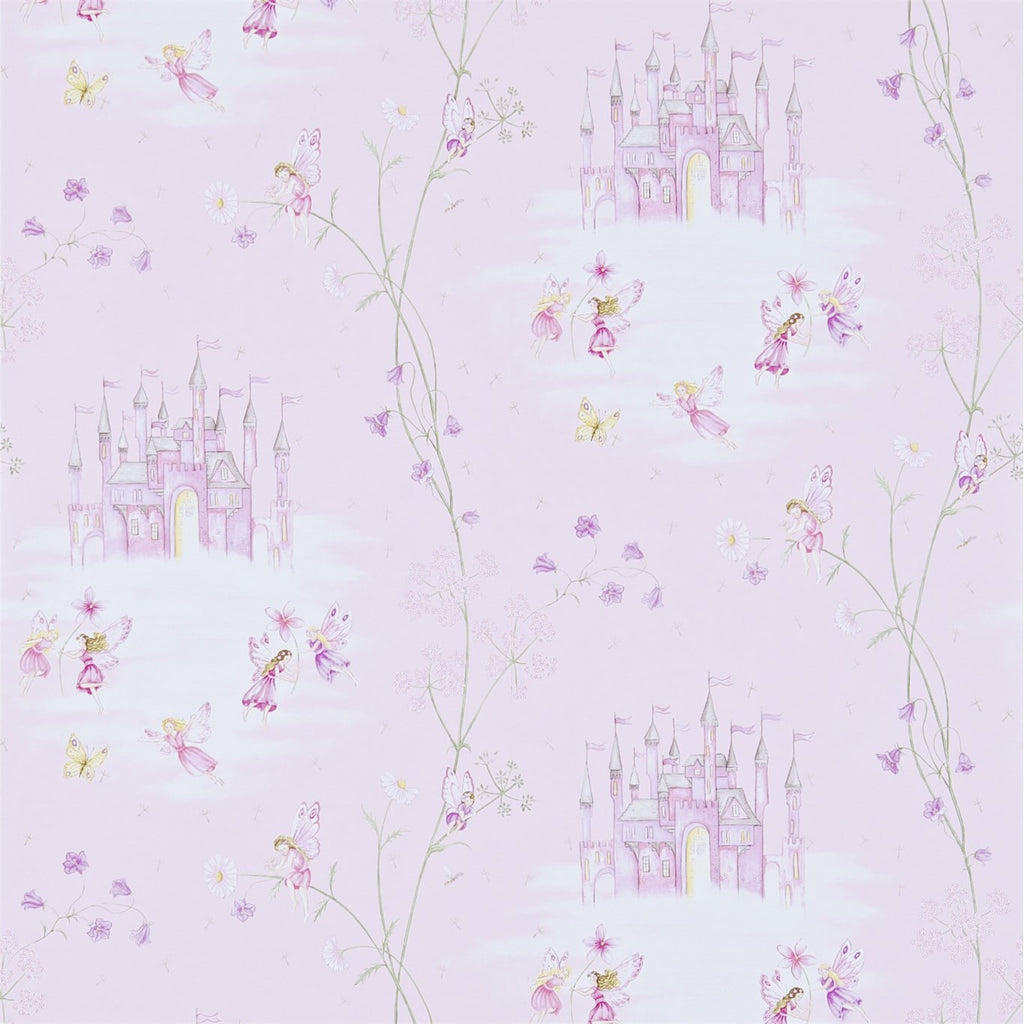 Little Sanderson Wallpaper | Fairy Castle | Pink 214046