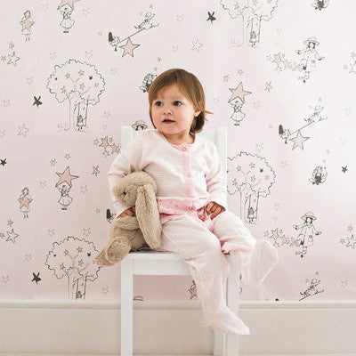 Katie Bourne Catch A Star Wallpaper 10m x 52cm for girls rooms & Nursery.