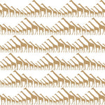 Sissy & Marley Wallpaper | Giraffe in Gold Metallic
