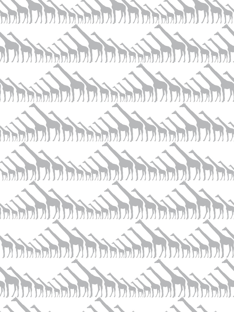 Marley+Malek Kids Wallpaper | Giraffe in Silver Metallic