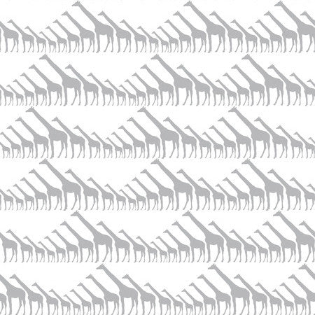 Sissy & Marley Wallpaper | Giraffe in silver Metallic