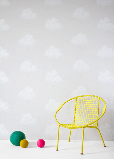 Bartsch Wallpaper Cotton Clouds Grey