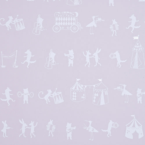 Hibou Home Animal Parade Wallpaper in Pink