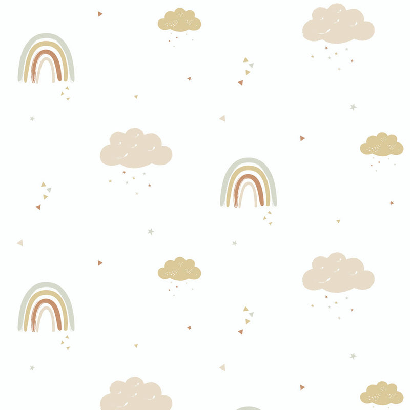 Rainbows Wallpaper for kids rooms