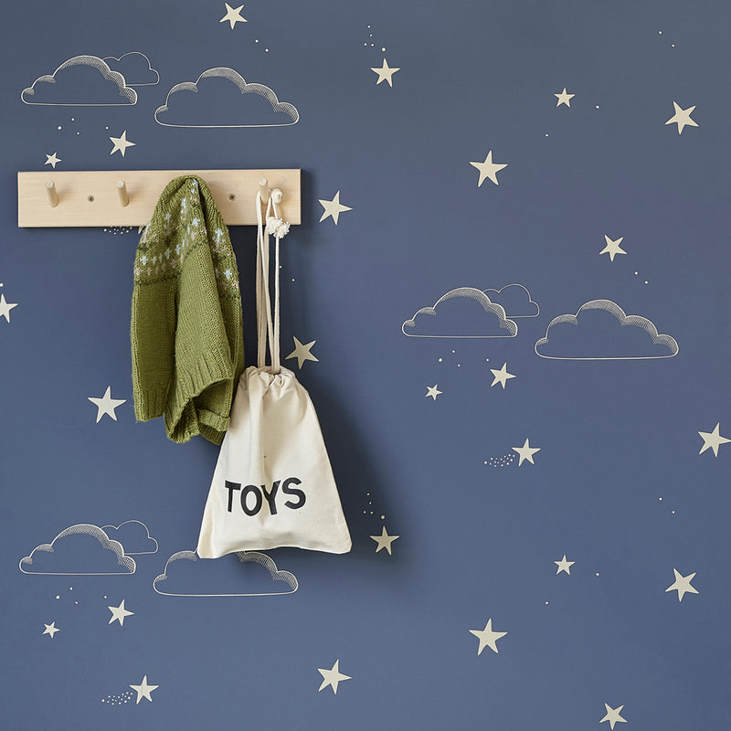 Hibou Home Starry Sky Wallpaper in indigo & gold
