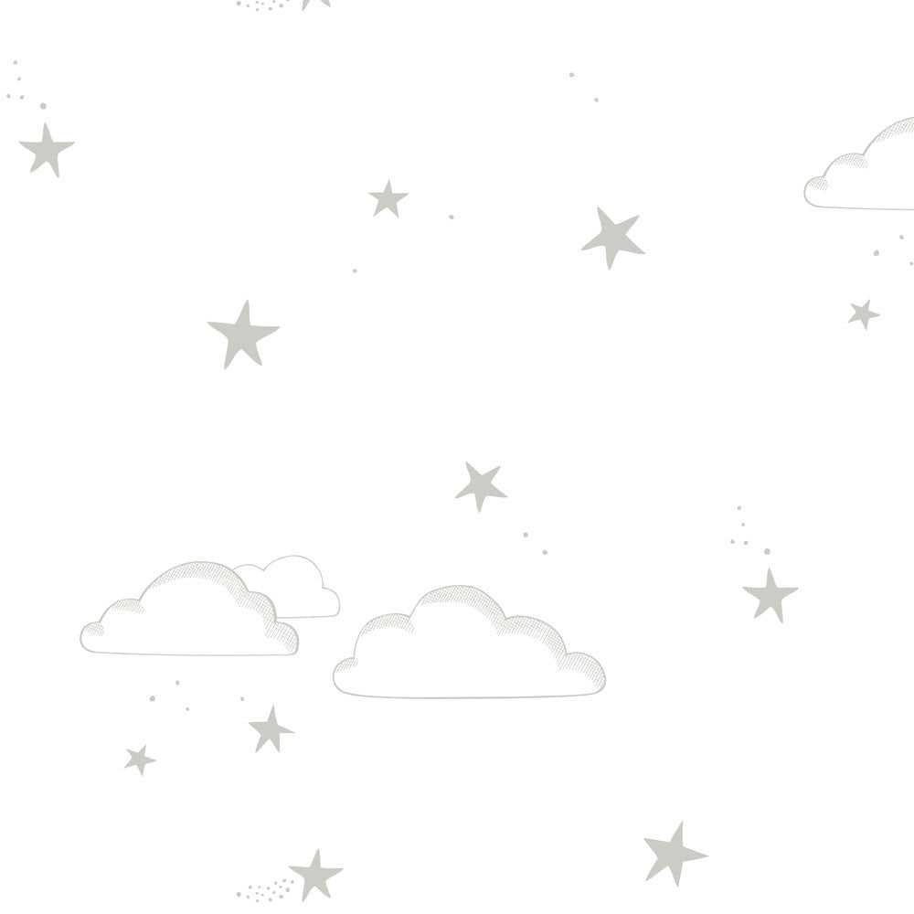 Starry Sky Wallpaper | Hibou Home | Silver & White