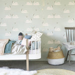 Swans Wallpaper | Hibou Home | Girls Wallpaper