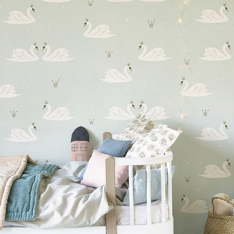Hibou Home Wallpaper | Secret Garden in Moonbeam