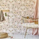 Woodlands Wonder Wallpaper in Pink