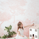 Pink Hua Trees Wallpaper Mural by Sian Zeng