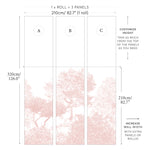 Sian Zeng Wallpaper Mural | Classic Hua Trees in Pink