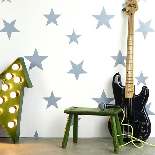 Hibou Home Wallpaper | Stars Stella Blue